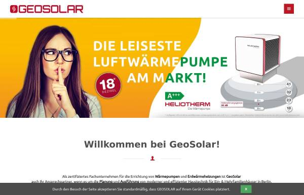 Vorschau von www.geosolar.de, GeoSolar Energietechnik GmbH
