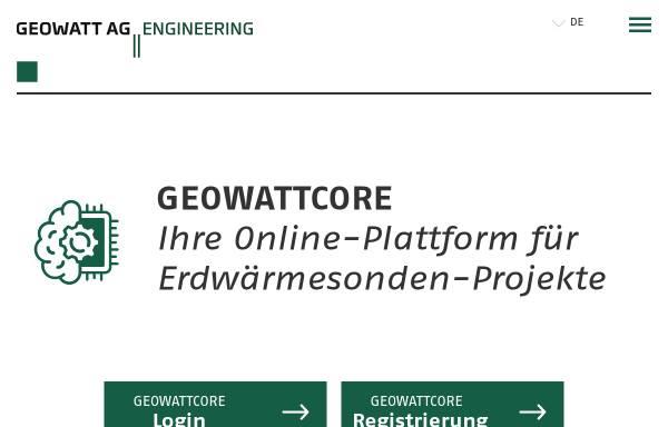 Vorschau von www.geothermal-energy.ch, Geothermie