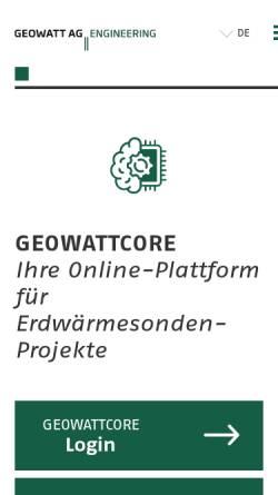 Vorschau der mobilen Webseite www.geothermal-energy.ch, Geothermie