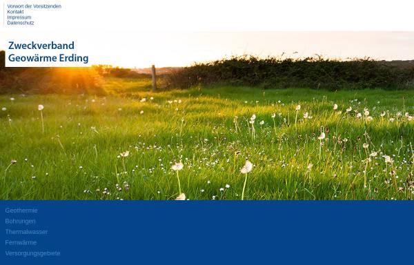 Vorschau von www.geowaerme-erding.de, Geothermie: Fernwärme in Erding