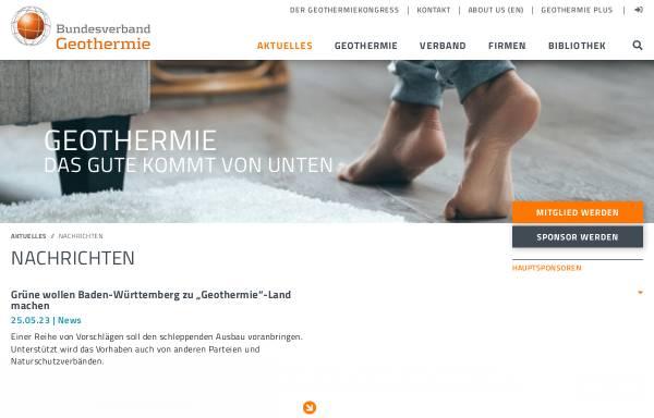 Vorschau von www.geothermie.de, Geothermie: Hinein in die Erdwärme