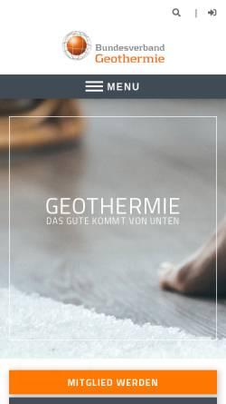 Vorschau der mobilen Webseite www.geothermie.de, Geothermie: Hinein in die Erdwärme
