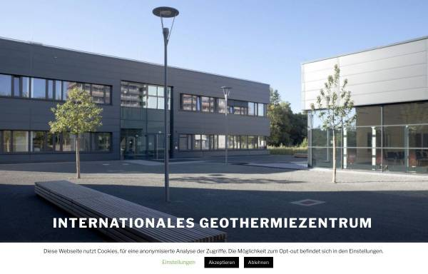 Vorschau von www.geothermie-zentrum.de, Institut für Geothermie und Zukunftsenergien
