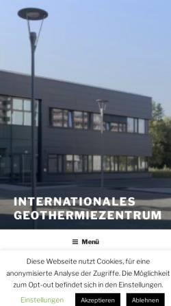 Vorschau der mobilen Webseite www.geothermie-zentrum.de, Institut für Geothermie und Zukunftsenergien