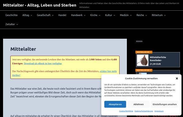 Vorschau von www.lehnswesen.de, Das Mittelalter, eine dunkle Zeit