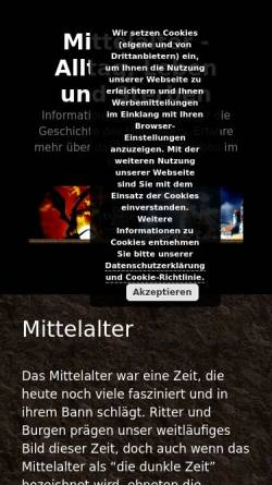 Vorschau der mobilen Webseite www.lehnswesen.de, Das Mittelalter, eine dunkle Zeit