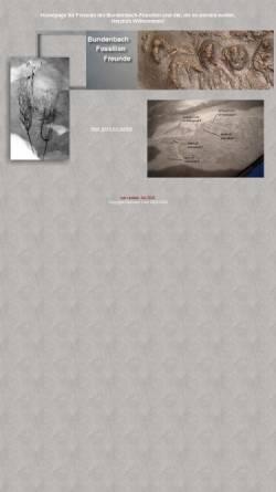 Vorschau der mobilen Webseite www.bundenbachfossilien-freunde.de, Freunde der Bundenbachfossilie