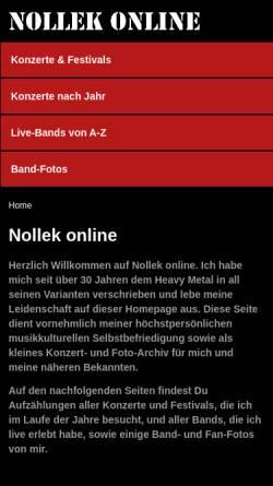 Vorschau der mobilen Webseite www.nollek-online.de, Noll, Markus