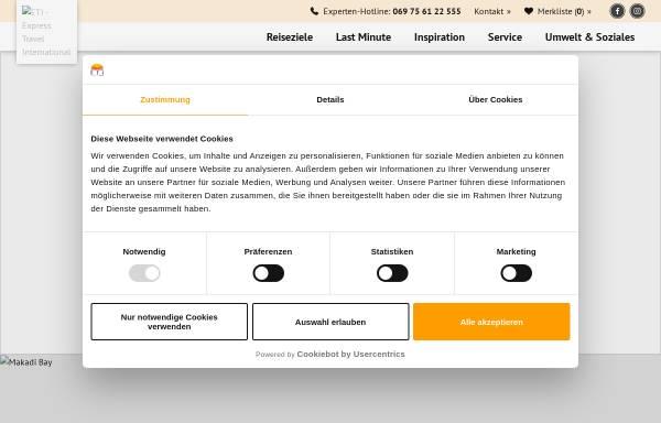 Vorschau von www.eti.de, Express Travel International GmbH