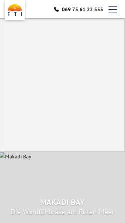 Vorschau der mobilen Webseite www.eti.de, Express Travel International GmbH