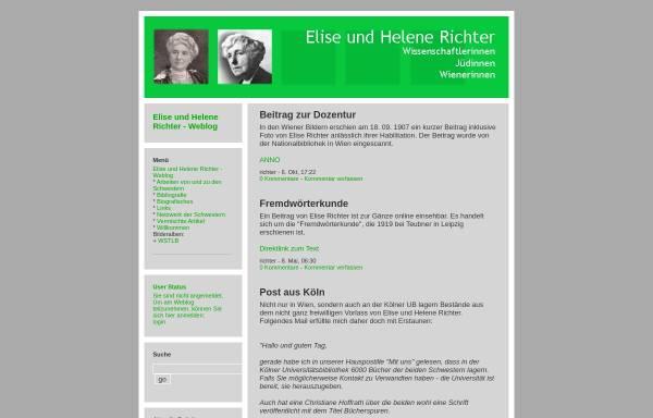 Vorschau von richter.twoday.net, Weblog über Elise und Helene Richter