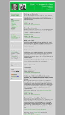 Vorschau der mobilen Webseite richter.twoday.net, Weblog über Elise und Helene Richter