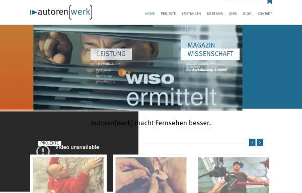 Vorschau von autorenwerk.com, autoren(werk)