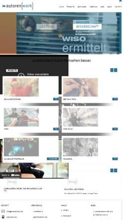 Vorschau der mobilen Webseite autorenwerk.com, autoren(werk)