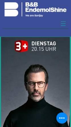 Vorschau der mobilen Webseite www.bbendemol.ch, B&B-Endemol AG