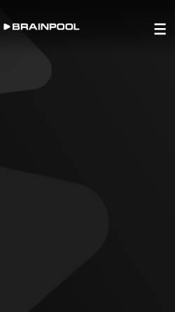 Vorschau der mobilen Webseite www.brainpool.de, Brainpool TV GmbH