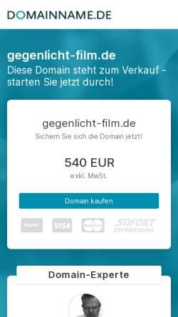 Vorschau der mobilen Webseite gegenlicht-film.de, gegenlicht film + tv produktion