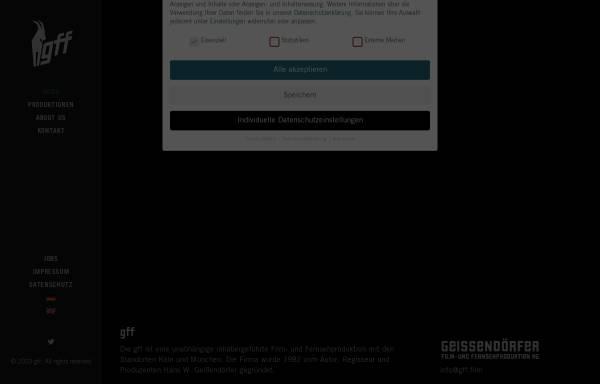 Vorschau von www.geissendoerfer-film.de, Geißendörfer Film- und Fernsehproduktion GmbH