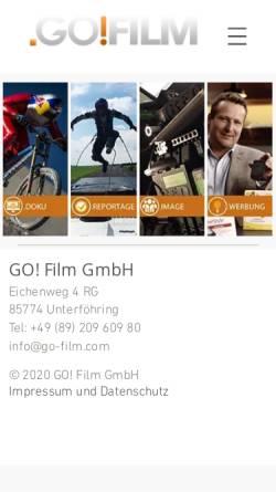 Vorschau der mobilen Webseite www.go-film.com, GO! Film GmbH