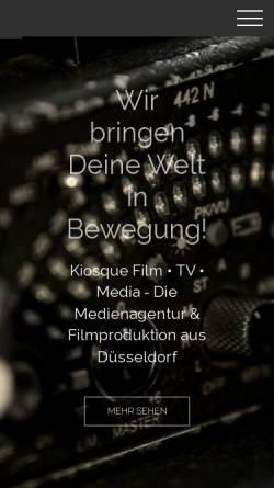 Vorschau der mobilen Webseite www.kiosque.de, Kiosque Film TV Media GmbH