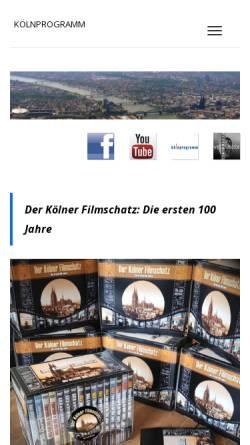 Vorschau der mobilen Webseite www.koelnprogramm.de, kölnprogramm GmbH & Co. KG