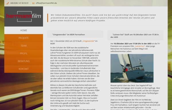 Vorschau von www.herrmannfilm.de, Konrad Herrmann Film- und Fernsehproduktion Berlin