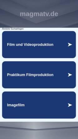 Vorschau der mobilen Webseite www.magmatv.de, Magma TV