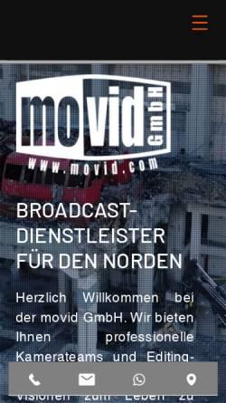 Vorschau der mobilen Webseite movid.com, movid GmbH