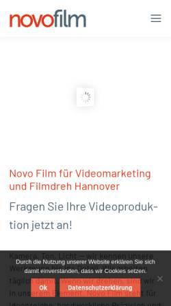 Vorschau der mobilen Webseite novofilm.de, Novo Film GmbH