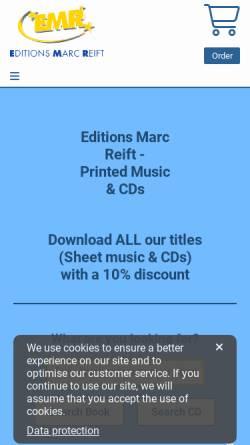Vorschau der mobilen Webseite www.reift.ch, EMR - Editions Marc Reift