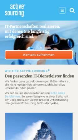 Vorschau der mobilen Webseite www.active-sourcing.com, Active Sourcing GmbH