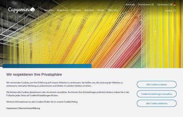 Vorschau von www.capgemini.com, Capgemini Deutschland GmbH