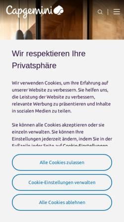 Vorschau der mobilen Webseite www.capgemini.com, Capgemini Deutschland GmbH