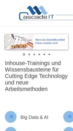 Vorschau der mobilen Webseite www.cascadeit.ch, IT Sourcing Managen