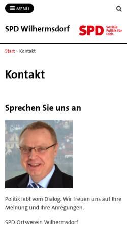 Vorschau der mobilen Webseite spd-wilhermsdorf.de, SPD