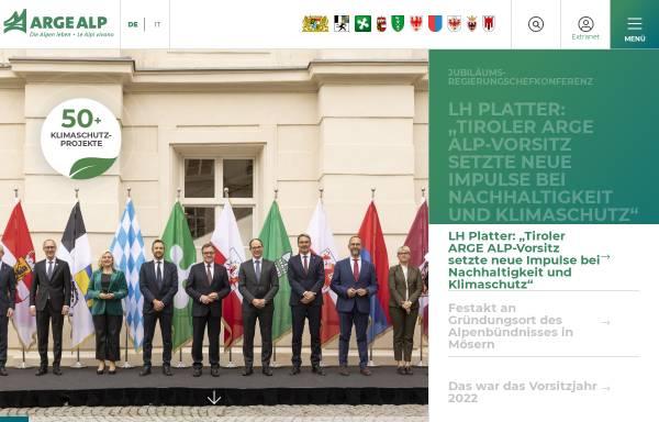 Vorschau von www.argealp.org, Arge Alp