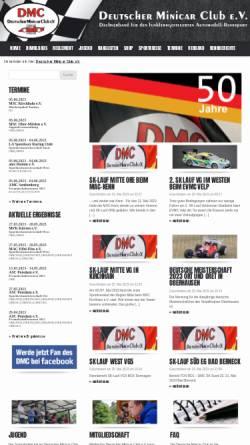 Vorschau der mobilen Webseite www.dmc-online.com, Deutscher Minicar Club e.V.