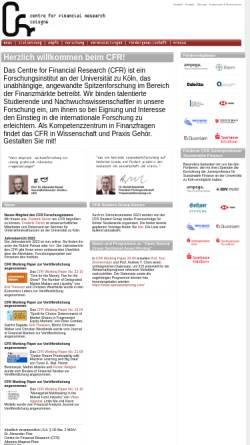 Vorschau der mobilen Webseite www.cfr-cologne.de, CFR Centre for Financial Research der Universität Köln