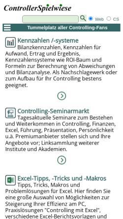 Vorschau der mobilen Webseite www.controllerspielwiese.de, ControllerSpielwiese