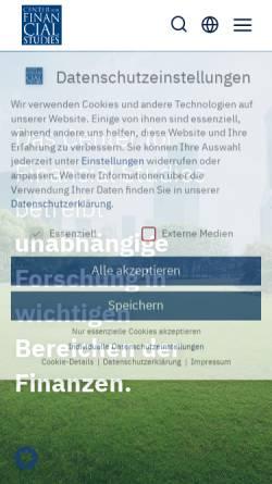 Vorschau der mobilen Webseite www.ifk-cfs.de, Gesellschaft für Kapitalmarktforschung e.V.