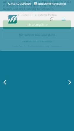 Vorschau der mobilen Webseite www.iff-hamburg.de, Institut für Finanzdienstleistungen e.V. (iff hamburg)