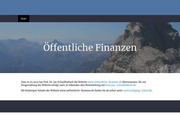 Vorschau von www.oeffentliche-finanzen.de, Öffentliche Finanzen