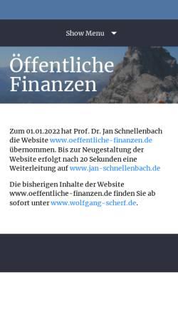 Vorschau der mobilen Webseite www.oeffentliche-finanzen.de, Öffentliche Finanzen
