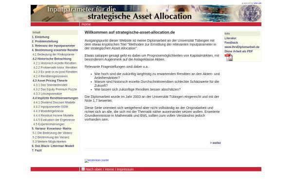 Vorschau von www.strategische-asset-allocation.de, Strategische Asset Allocation