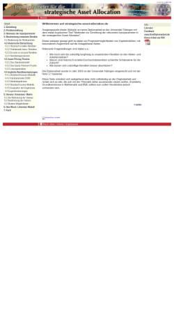 Vorschau der mobilen Webseite www.strategische-asset-allocation.de, Strategische Asset Allocation