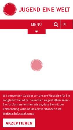 Vorschau der mobilen Webseite www.jugendeinewelt.at, Jugend eine Welt