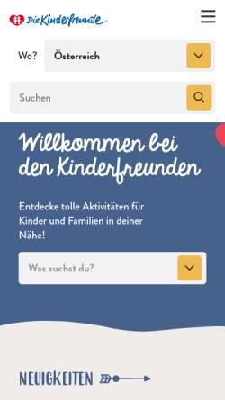Vorschau der mobilen Webseite www.kinderfreunde.at, Kinderfreunde
