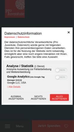 Vorschau der mobilen Webseite projuventute.at, Pro Juventute