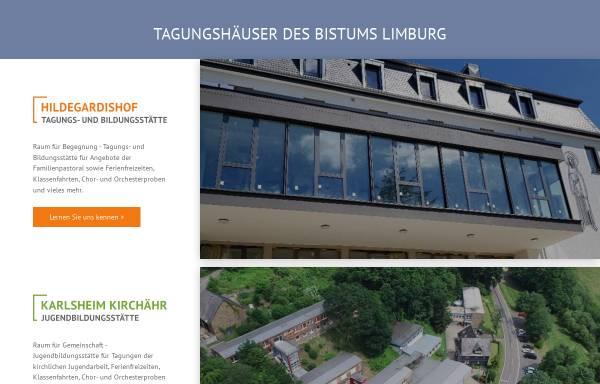 Vorschau von www.tagungshaeuser.org, Tagungshäuser des Bistum Limburg