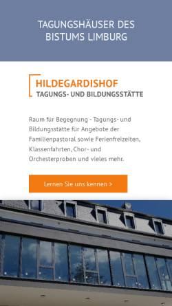 Vorschau der mobilen Webseite www.tagungshaeuser.org, Tagungshäuser des Bistum Limburg
